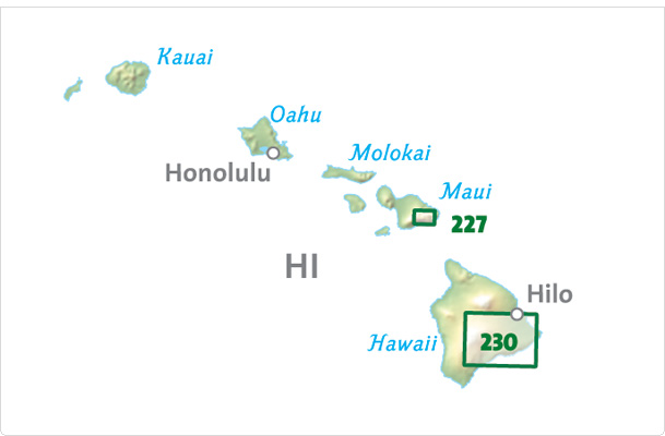 Overzicht Wandelkaarten Hawaii Trails Illustrated National Geographic
