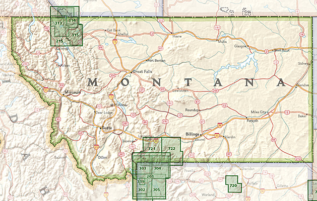 Overzicht Wandelkaarten Montana Trails Illustrated National Geographic