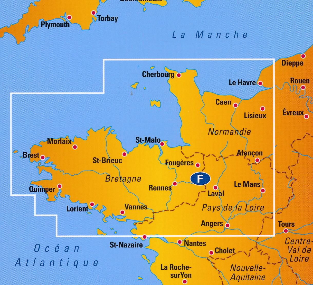 Wegenkaart Landkaart 5 Bretagne Anwb Media 9789018042585