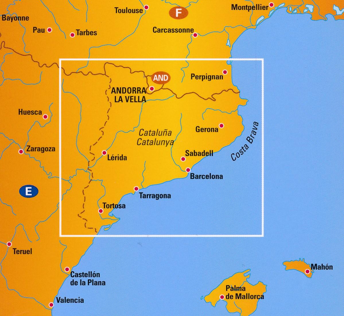 Wegenkaart Landkaart 4 Catalonie Costa Brava Barcelona Anwb