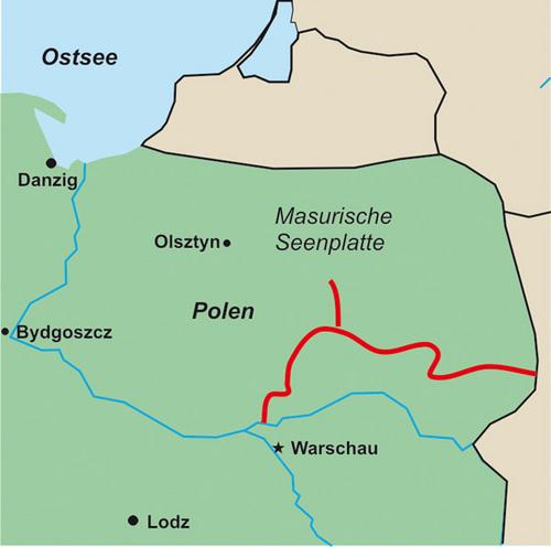 Pisa Karte.Kanogids Polen Pisa Narew Conrad Stein Verlag