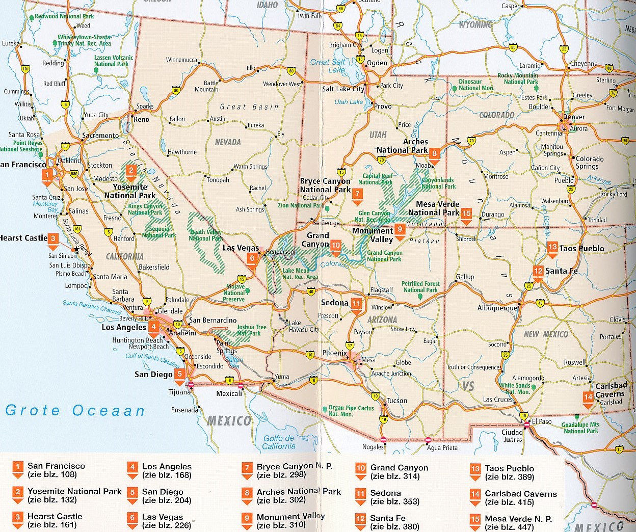 Heloohaloo 25 Uniek Kaart Zuidwest Usa