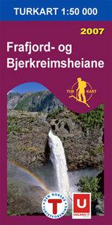 Wandelkaart 2541 Frafjord bjerkreimsh Noorwegen | Turkart Ugland |
