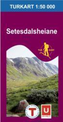 Wandelkaart 2653 Setesdalsheiane Noorwegen | Turkart Ugland |