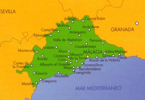 Wegenkaart Landkaart Mapa Provincial Malaga Cnig Instituto