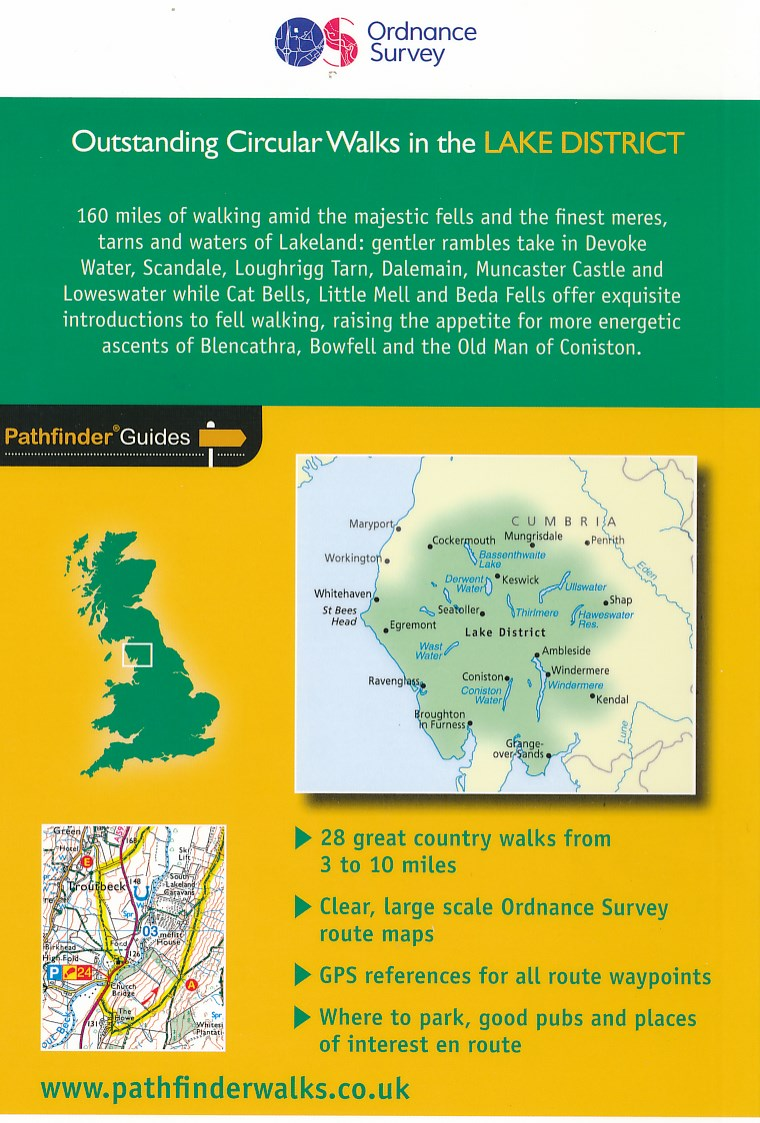 lake district outstanding circular walks pathfinder guides
