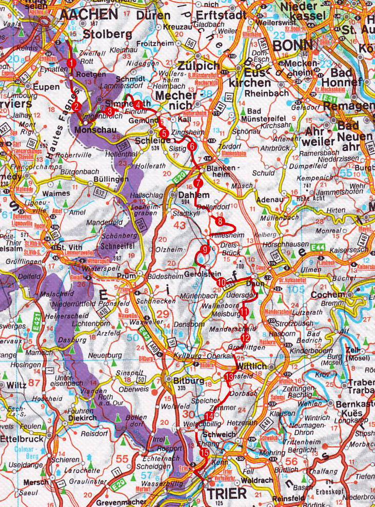 Heloohaloo 57 Inspirerend Duitsland Trier Kaart