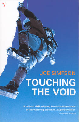 Reisverhaal Touching the Void | Joe Simpson <br/>€ 14.50 <br/> <a href='https://www.dezwerver.nl/reisgidsen/?tt=1554_252853_241358_&r=https%3A%2F%2Fwww.dezwerver.nl%2Fr%2Fzuid-amerika%2Fperu%2Fc%2Fboeken%2Freisverhalen%2F9780099771012%2Freisverhaal-touching-the-void-joe-simpson%2F' target='_blank'>Meer Info</a>