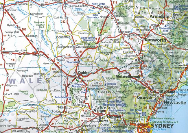Australia Map 785.Wegenkaart Landkaart 785 Australie Australia Michelin