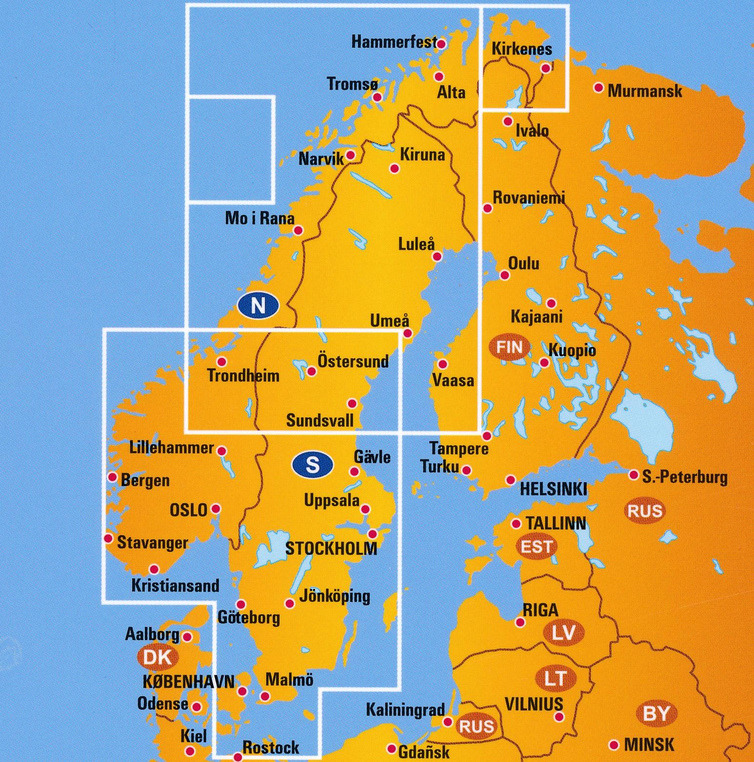 Wegenkaart Landkaart 6 Zweden Noorwegen Anwb Media