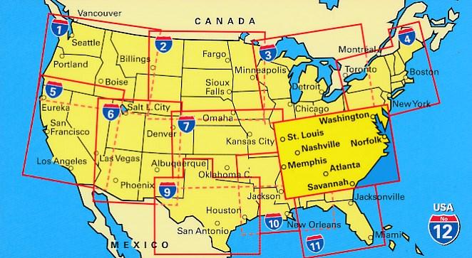 Wegenkaart Landkaart 08 Southeast Usa Zuidoost Hallwag