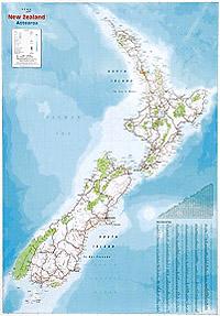 Wandkaart nieuw zeeland new zealand hema maps