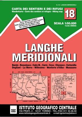 Wandelkaart 18 Langhe meridionali | IGC