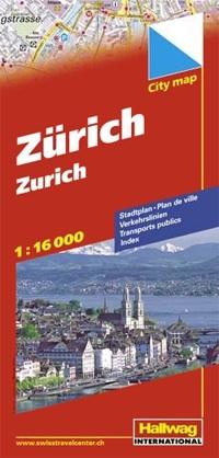 Stadsplattegrond City Map Zürich - Zurich | Hallwag