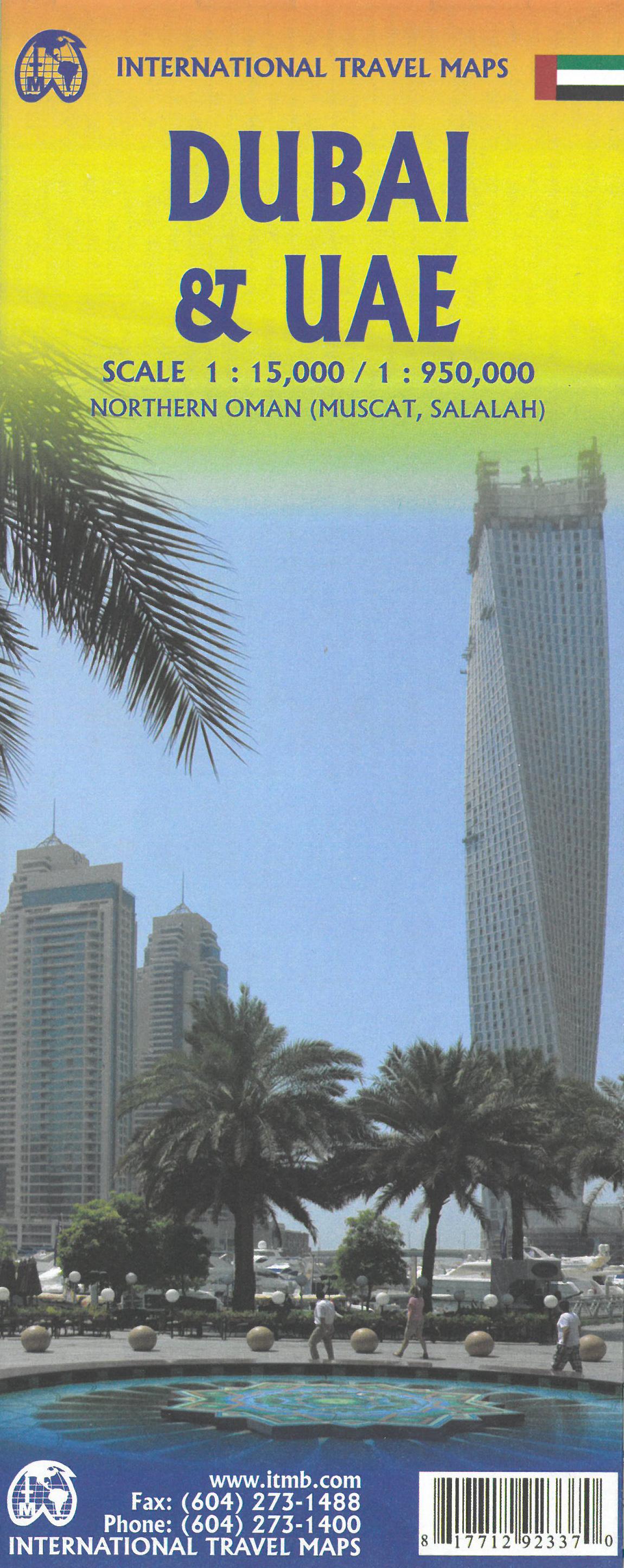 Online bestellen: Wegenkaart - landkaart - Stadsplattegrond Dubai en VAE | ITMB