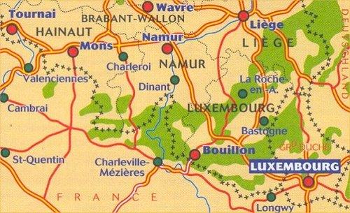 Wegenkaart Landkaart 534 Zuid Belgie Ardennen Michelin