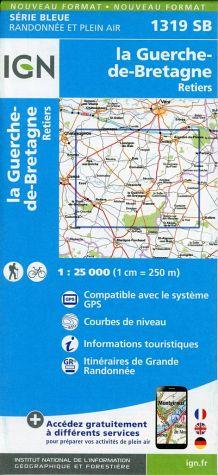 Wandelkaart - Topografische kaart 1319SB La Guerche-de-Bretagne - Retiers | IGN
