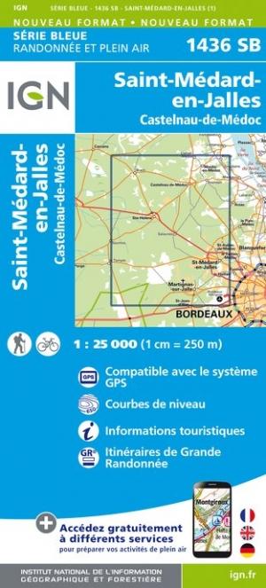 Wandelkaart - Topografische kaart 1436SB St-Medard-en-Jalles, Castelnau-de-Médoc | IGN