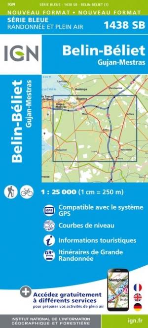 Wandelkaart - Topografische kaart 1438SB Belin-Béliet, Gujan-Mestras | IGN