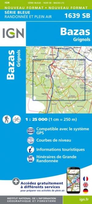 Wandelkaart - Topografische kaart 1639SB Grignols - Bazas | IGN