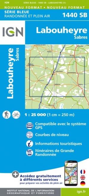 Wandelkaart - Topografische kaart 1440SB Labouheyre - Sabres | IGN
