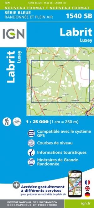 Wandelkaart - Topografische kaart 1540SB Labrit - Luxey | IGN