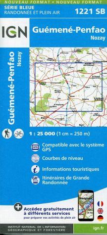 Wandelkaart - Topografische kaart 1221SB Guémené - Penfao - Nozay | IGN