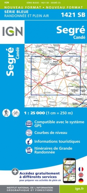Wandelkaart - Topografische kaart 1421SB Segre - Cande | IGN