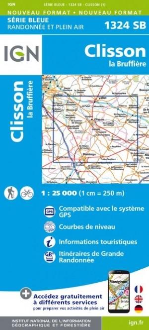 Wandelkaart - Topografische kaart 1324SB La Bruffière - Clisson | IGN