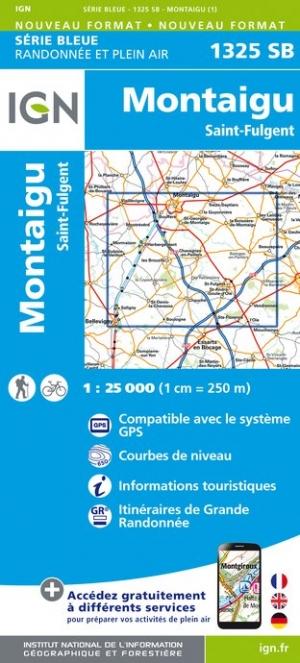 Wandelkaart - Topografische kaart 1325SB St-Fulgent, Montaigu | IGN