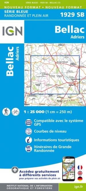 Wandelkaart - Topografische kaart 1929SB Bellac - Adriers | IGN