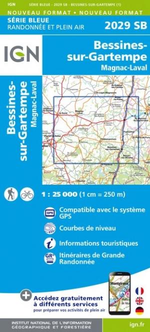 Wandelkaart - Topografische kaart 2029SB Bessines-sur-Gartempe, Magnac-Laval | IGN