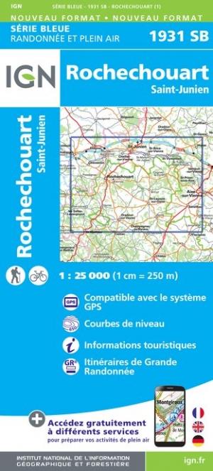 Wandelkaart - Topografische kaart 1931SB St-Junien, Rochechouart | IGN