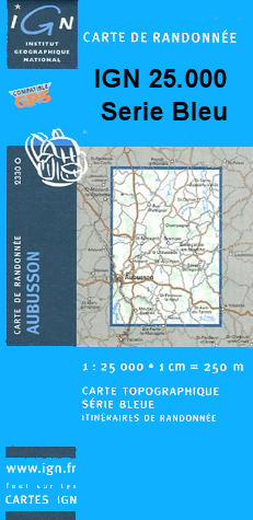 Wandelkaart 1934E Excideuil   IGN