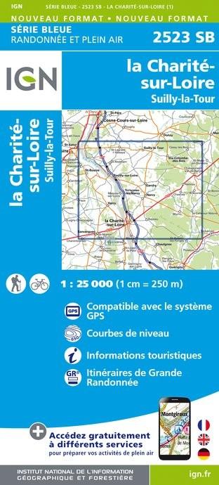 Topografische kaart - Wandelkaart 2523SB La Charité-sur-Loire, Suilly-la-Tour | IGN