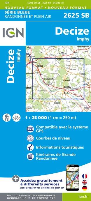 Wandelkaart - Topografische kaart 2625SB Decize - Imphy | IGN