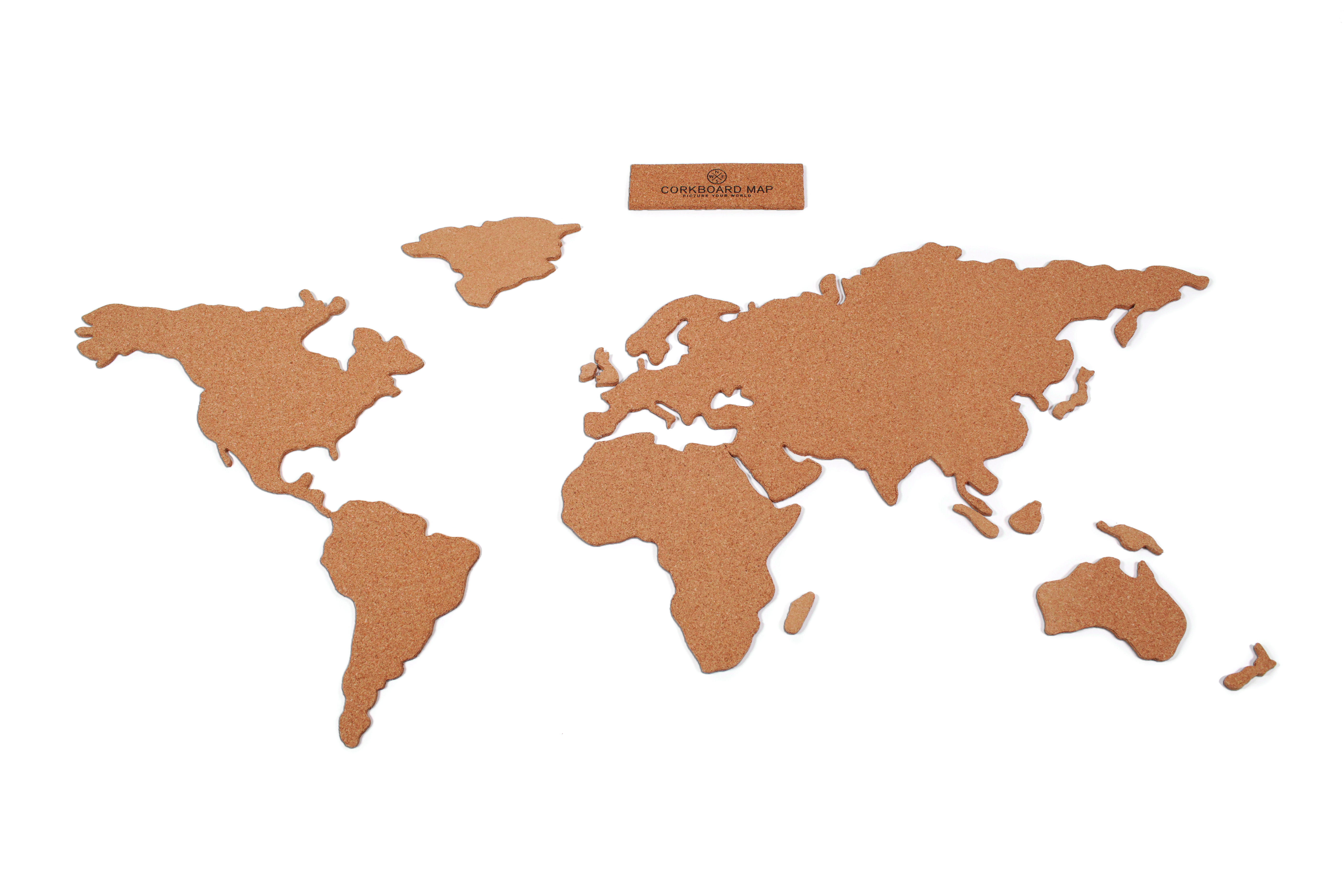 wereldkaart prikbord van kurk cork board map luckies. Black Bedroom Furniture Sets. Home Design Ideas