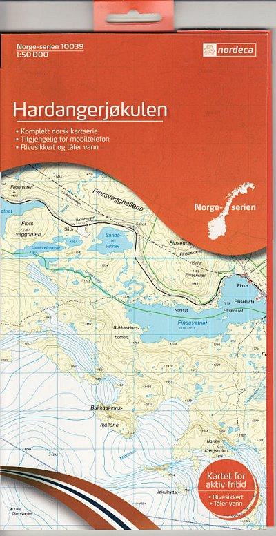 Wandelkaart Hardangerjøkulen 10039 Topografische Kaart Noorwegen | Nordeca |