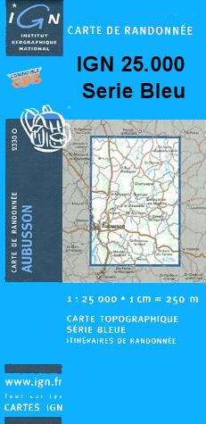 Wandelkaart - Topografische kaart 2328O Boussac | IGN