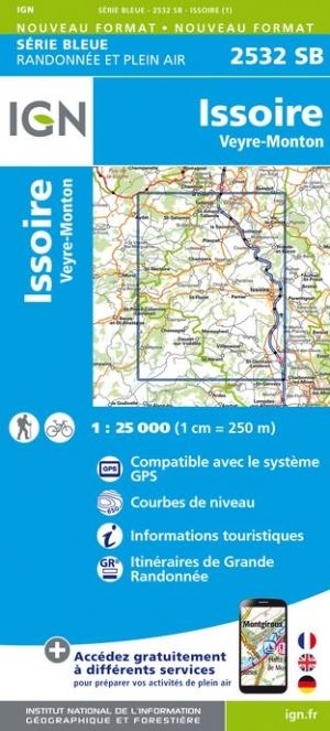 Wandelkaart - Topografische kaart 2532SB Veyre-Monton, Issoire | IGN