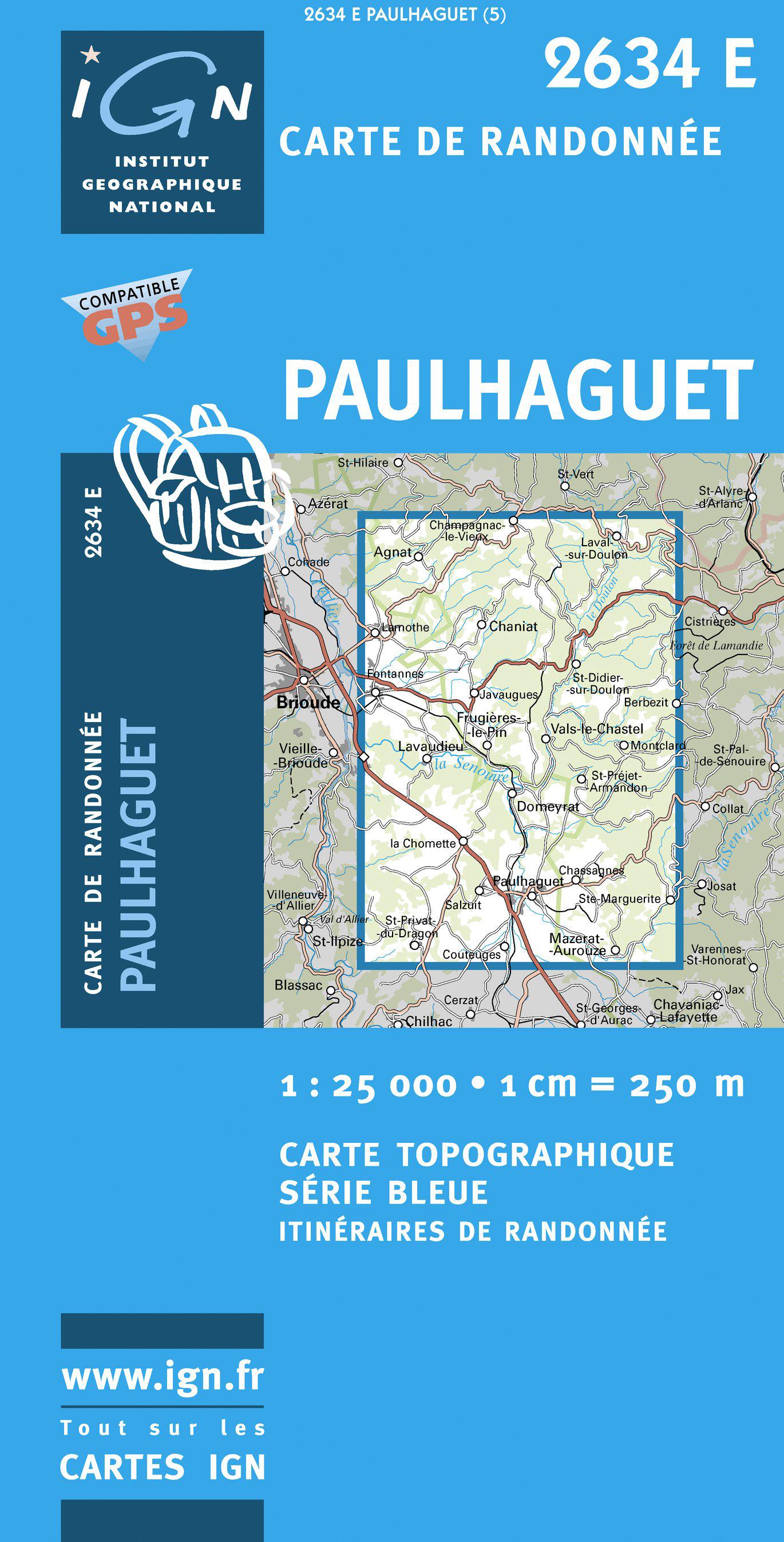 Wandelkaart - Topografische kaart 2634E Paulhaguet | IGN
