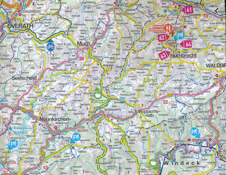 Wegenkaart landkaart 21 freizeitkarte k ln keulen bonn und umgebung marco polo - Mobelhauser koln und umgebung ...