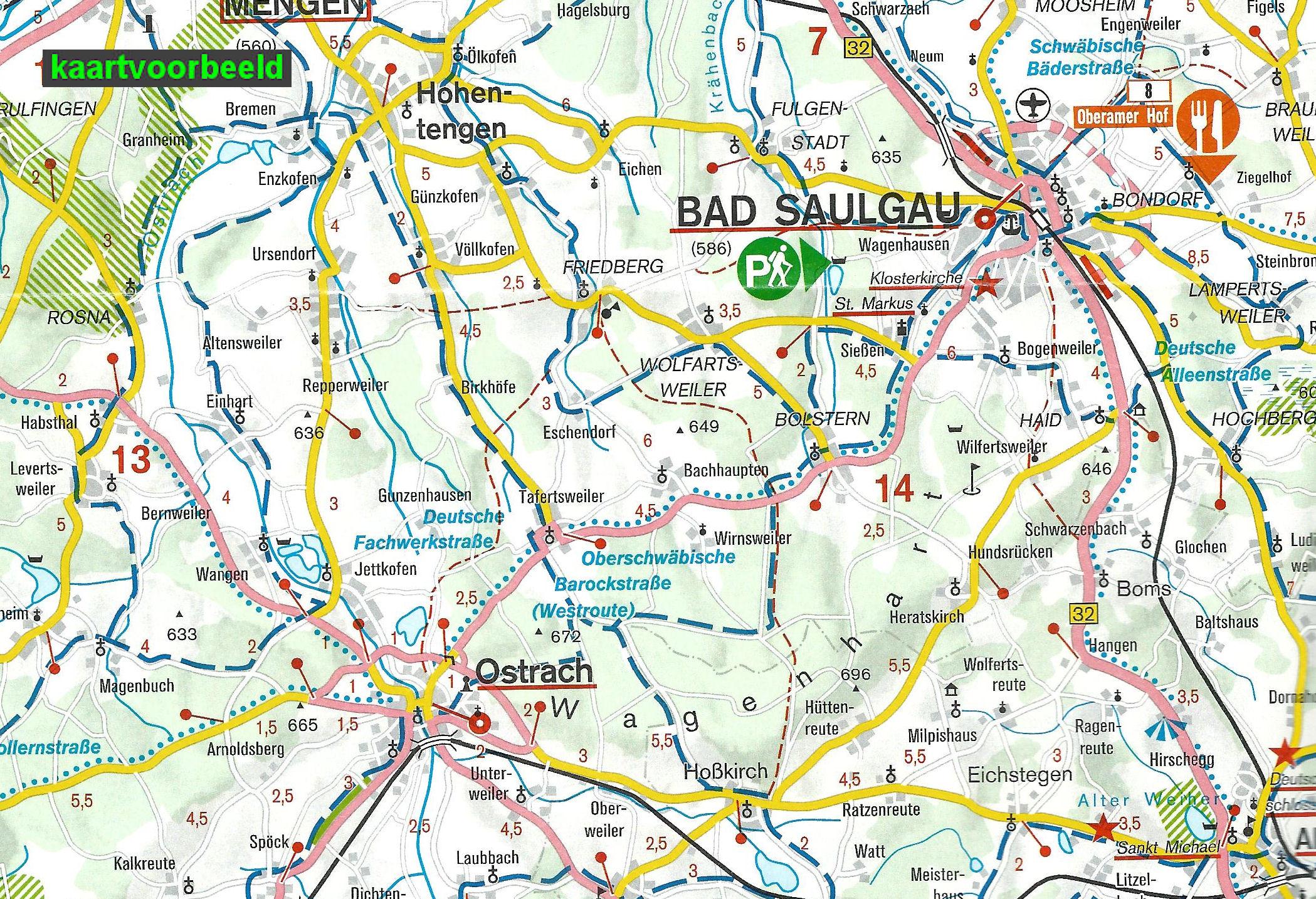 Wegenkaart Landkaart 40 Freizeitkarte Schwarzwald Sud Zwarte