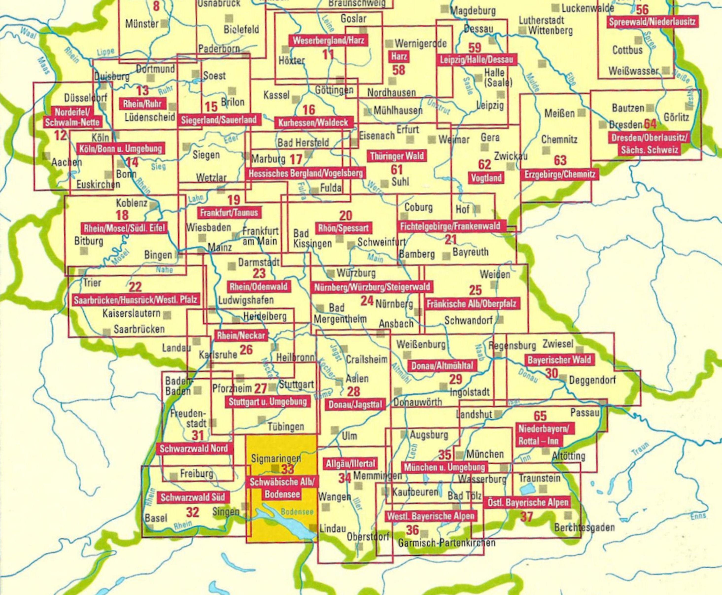 Wegenkaart Landkaart 35 Freizeitkarte Munchen Und Umgebung