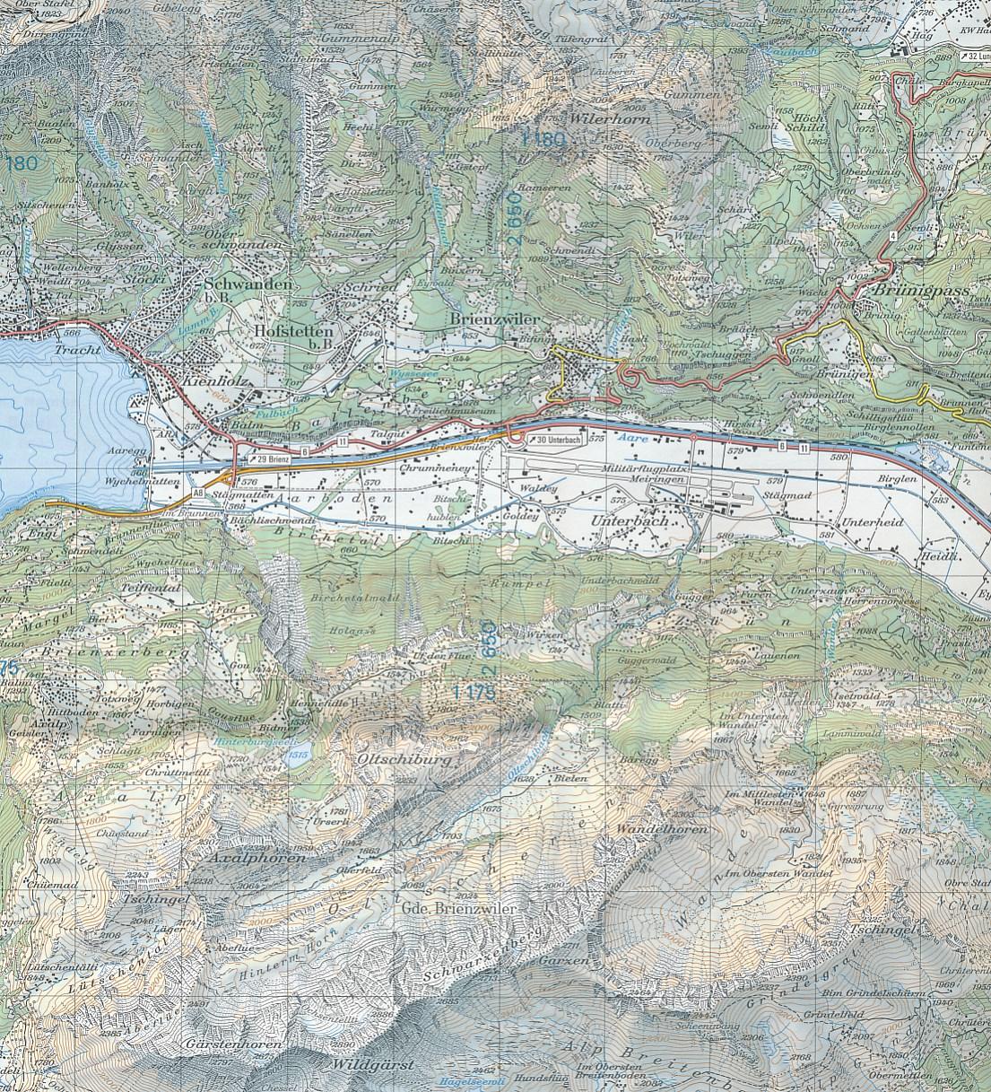 Wandelkaart Topografische Kaart 297 Como Tessin Swisstopo