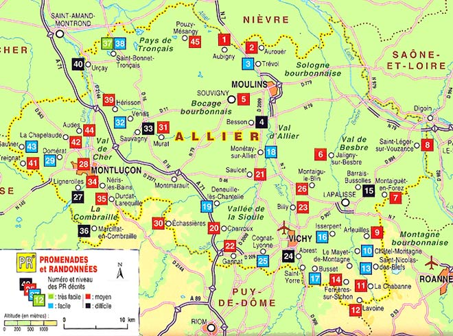 Wandelgids d003 allier pied ffrp 9782751403408 reisboekwinkel de zwerver - Office de tourisme allier ...