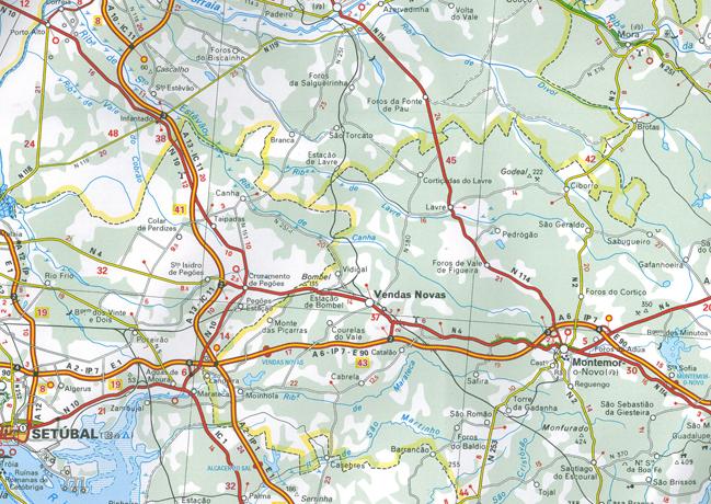 Wegenkaart Landkaart Portugal En Madeira Michelin - Michelin map portugal 733