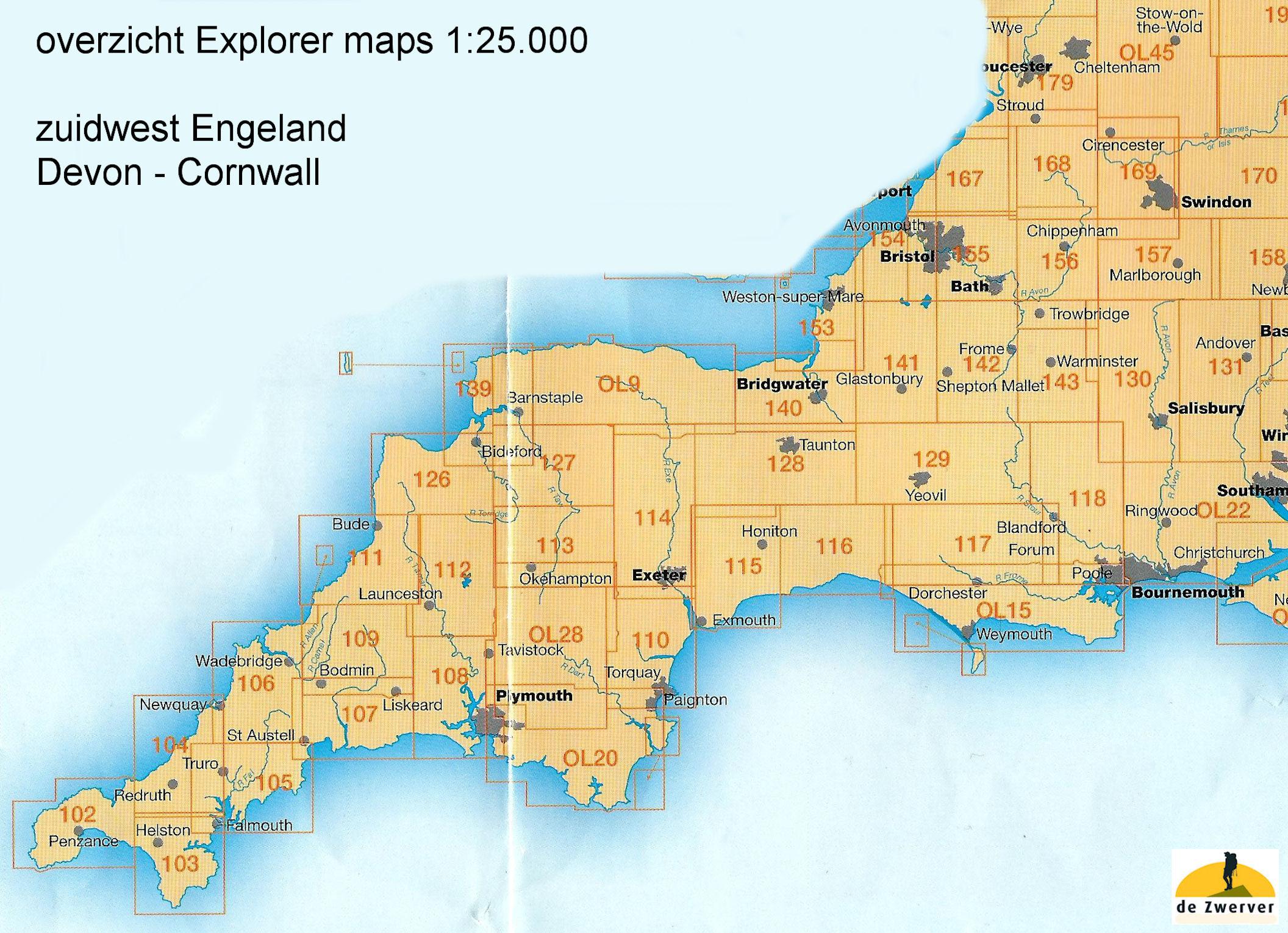 Wandelkaart Topografische Kaart 154 Explorer Bristol West