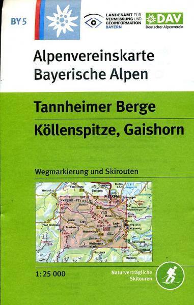 Wandelkaart By5 Alpenvereinskarte Tannheimer Berge Alpenverein kopen in de aanbieding