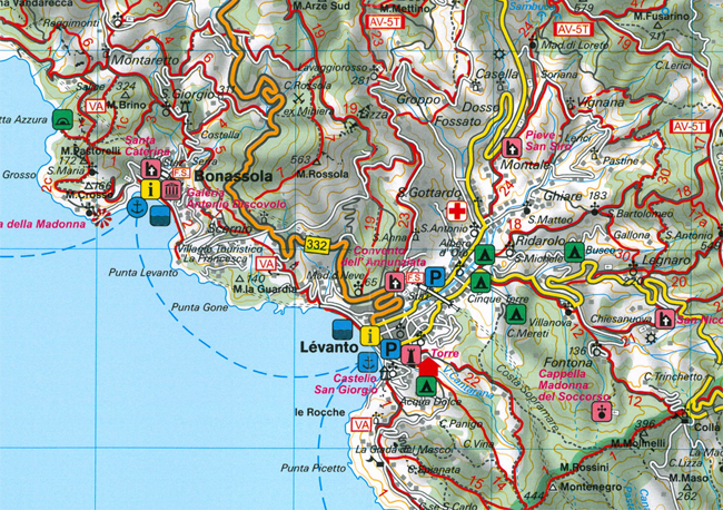 Wandelkaart 131 Wk Cinque Terre Portofino Freytag